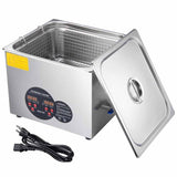 "15L Stainless Steel Ultrasonic Cleaner Tank 13"" L x 11"" W x 6"" H"