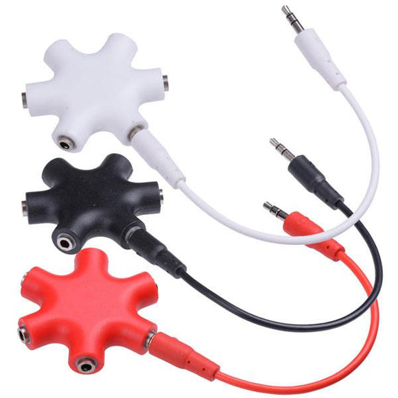 Audio Multi Headphone Splitter 3.5mm w/ Cable Color Opt