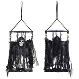 Halloween Props 3 Pcs Animated Caged Skeletons