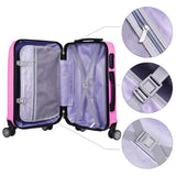 "20"" 4-Wheel Hardside Spinner Suitcase Luggage Pink"