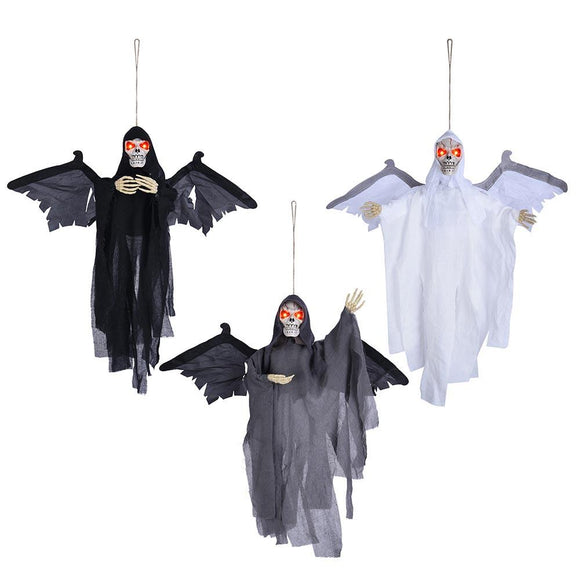 Halloween 3pcs Skeleton Eyes Light Up Sound Activated Props w/ Wings