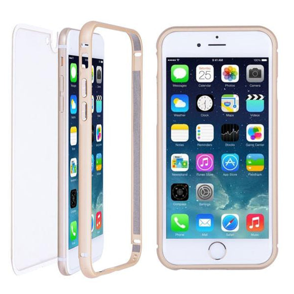 Ultra Thin iPhone 6 Case Aluminum Frame Clear Back Cover