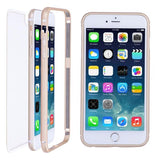 Ultra Thin iPhone 6 Plus Case Aluminum Frame Clear Back Cover