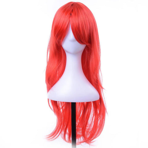 "28"" Cosplay Wigs Long Curly Synthetic Hair Red"