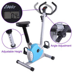 Upright Bike Exercise Fitness Indoor Cycle Blue