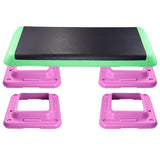 "43"" Aerobic Fitness Stepper w/ 4 Risers Workout Step"