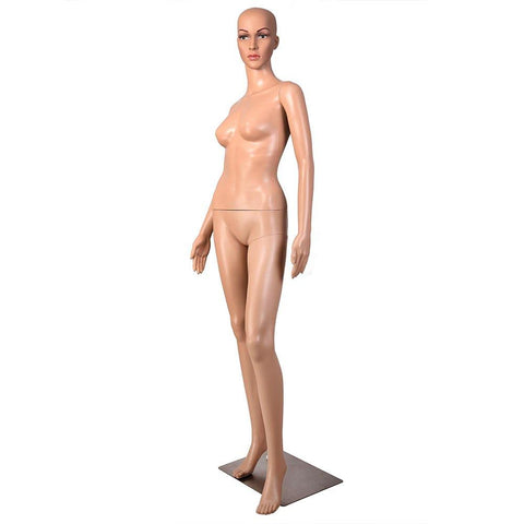 Full Body Hair Female Mannequin Shop Display w/ Metal Base