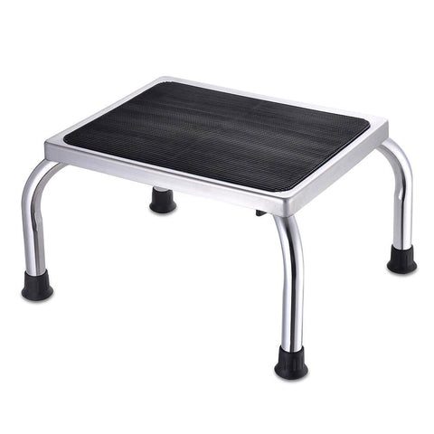 Medical Steel Step Stool Chrome Non-slip Top Floor Tips