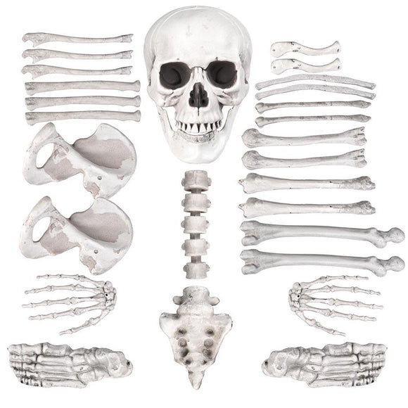 Halloween 28 PCS Bag of Skeleton Skull Bones Party Decor