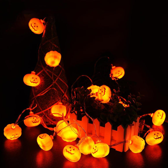 Halloween 10.8' 20 LEDs Pumpkin String Light Party Decor