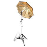"3x 33"" Photo Studio Umbrellas Backdrops Stand Lighting Kit"