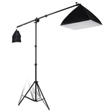 3-Softbox Photo Studio Lighting Boom Arm Stand Kit w/ Bag