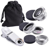 3in1 Fisheye Clip On Universal Smartphone Camera Lens Kit