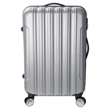 3 Pcs Four Wheeled Hardside Spinner Luggage Sets Silver