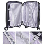 "20"" 4-Wheel Hardside Spinner Suitcase Luggage Black"