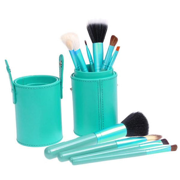 12-piece Makeup Brush Set -Turquoise