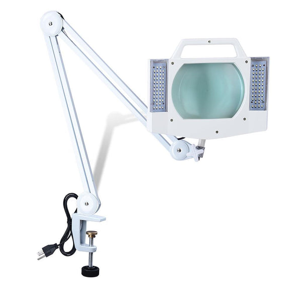 White Magnifier Lamp with Table Clamp & Handle