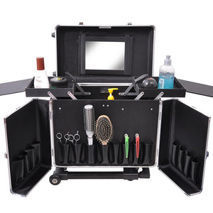 AW Aluminum Rolling Hair Stylist Train Case