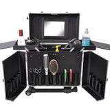 AW® Aluminum Rolling Hair Stylist Train Case
