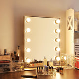 26x20 inch Hollywood Mirror Dimmable w/ LED Bulbs Gold