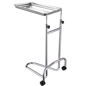 Rolling Steel Mayo Tray Medical Instrument Stand III