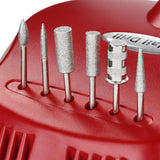 Red Nail Art Drill Machine Kit (Bits included)