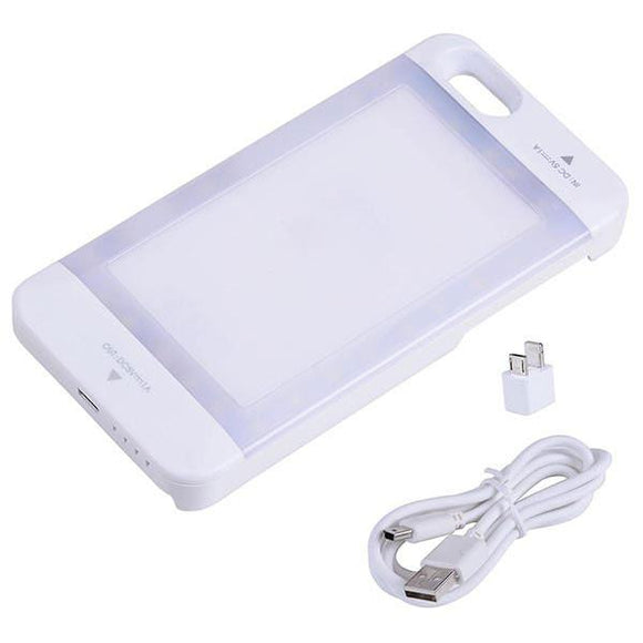 iPhone 6/6s External Battery Case 3800mAh Built-in LED White