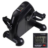 Mini Pedal Exerciser Cardio Cycle Bike w/ Monitor Black