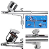 0.3 mm Dual-Action Airbrush, Air Compressor Makeup Airbrush Kit