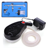 0.35mm Dual-Action Airbrush Air Compressor Kit w/ Bottle