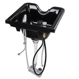 Salon Shampoo Bowl w/ Faucet Neck Rest Hair Trap