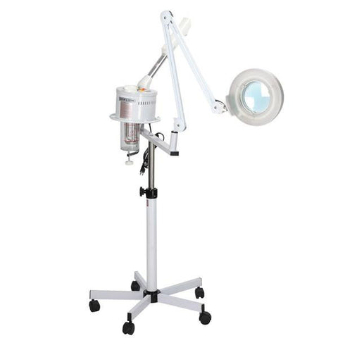 Salon Spa Facial Ozone Steamer with Magnifying Lamp