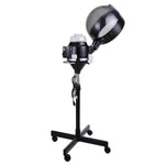 Black Professional Salon Rolling Hair Steamer w/ Stand