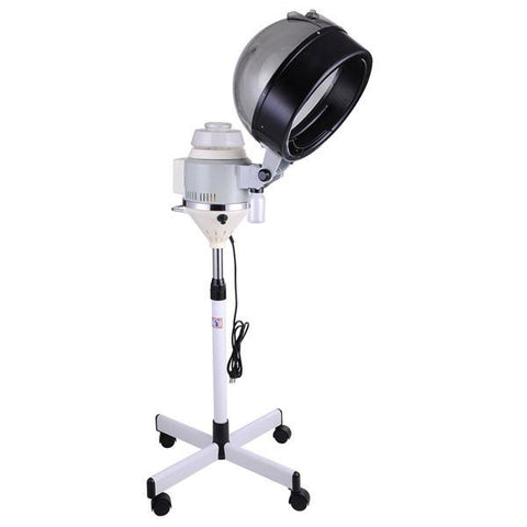 Grey Professional Salon Rolling Hair Steamer w/ Stand