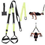 Body Fitness Suspension Trainer Home Exercise Bands Green