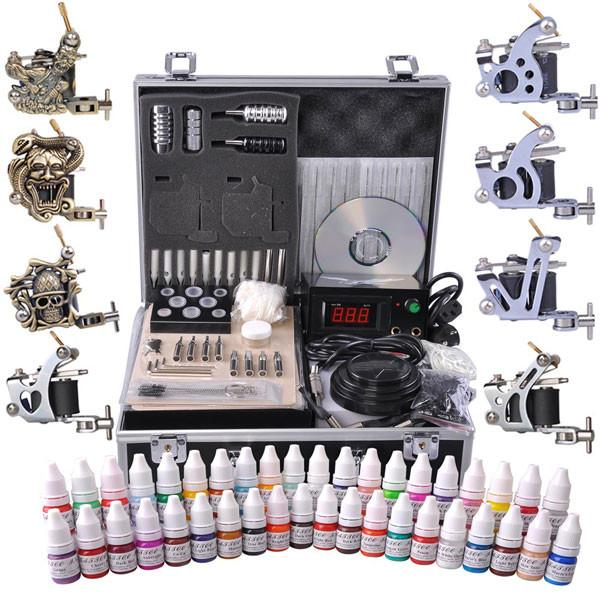 8-Gun Pro Tattoo Machine Kit w/ Case 40Ink – The Salon Outlet