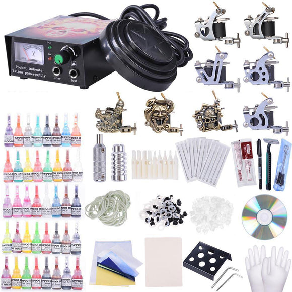 8-Gun Pro Tattoo Machine Kit w/ 40Ink