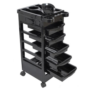 Salon Rolling Storage Trolley Cart w/ 5-Drawer