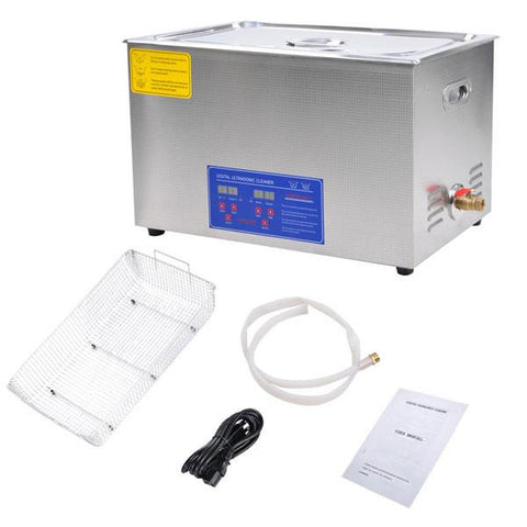 "30L Stainless Steel Ultrasonic Cleaner Tank 19"" L x 11"" W x 7"" H"