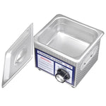 "1.3L Stainless Steel Ultrasonic Cleaner Tank 6""L x 5""W x 2""H"