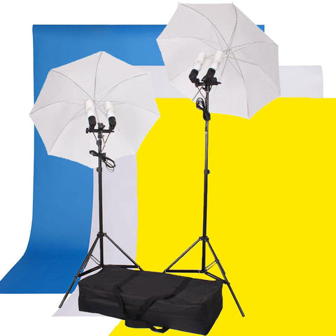 "33"" Umbrella Photo Continuous Lighting Backdrop Kit"