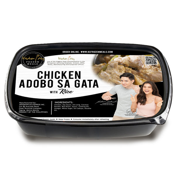 Chicken Adobo sa Gata Rice Meal