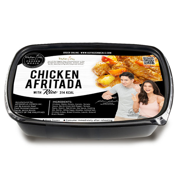 Chicken Afritada Rice Meal