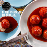Giant Chicken Meatballs with Sweet and Sour Sauce