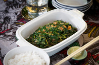 Steamed Kangkong with Garlic Oyster Sauce