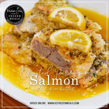 Crusted Parmesan Salmon with Lemon Butter