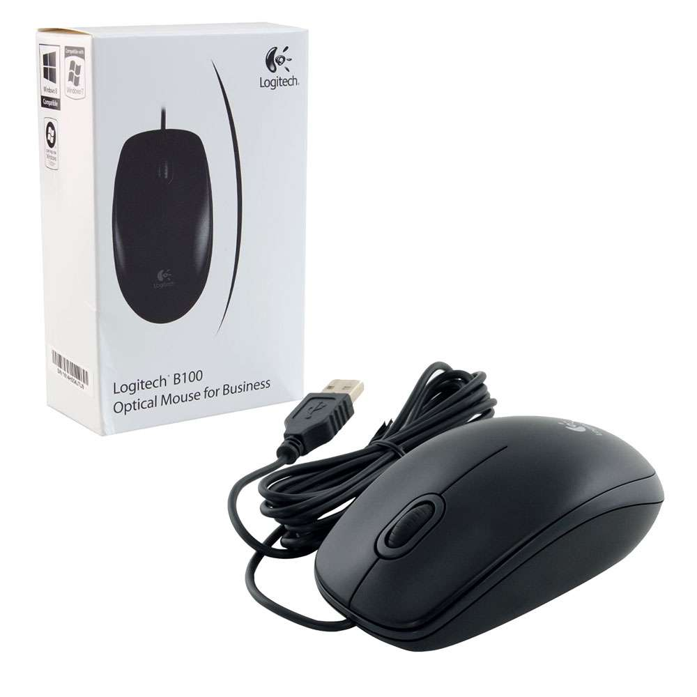 Logitech B100 USB Black Mouse