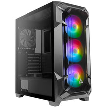 Load image into Gallery viewer, Exist2Game Gaming Turbine E2, High-End Custom PC Build, Intel i5 9400 2.9GHz, 16GB DDR4 RAM, 500GB M.2 NVMe SSD, Antec DF600 FLUX Mid Tower Case, Windows 10 Home, 1 Year Warranty. Add A GPU For Additional Cost.