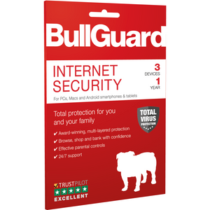 Bullguard antivirus 1 year 3 PC's
