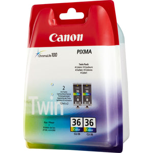 Canon 36 Colour twin pack cartridges